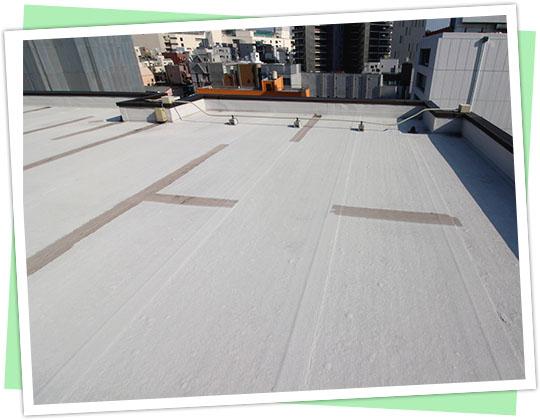 屋上の防水塗装